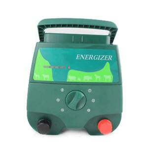 Portable Electric Fence Charger Range 20km Energizer For Livestock Farm Fences
