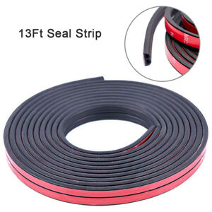 13ft B Shape Rubber Seal Strip Car Door Edge Protect Self Adhesive Weatherstrip