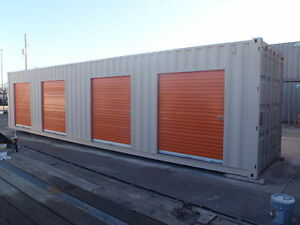 Shipping Container Portable Storage Building With Four Roll Up Doors