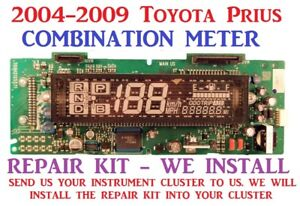 2004 2009 Toyota Prius Cluster Combination Meter Dash Repair Kit We Install