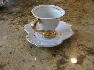 Fine Old Japanese Porcelain Tea Cup Saucer Marked Made In Occupied Japan