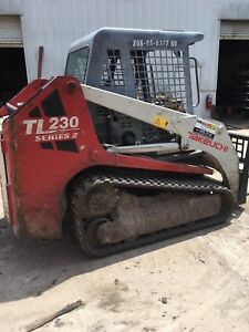 12 Takeuchi Tl230 Track Skid Steer With Bucket 1960hrs
