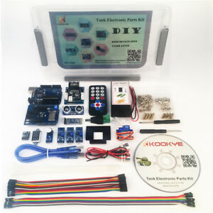 Robot Car Electronics Parts Kit With Cd Tutorial For Tank Chassis Platform