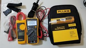 Used Fluke 117 323 Electrician Kit With Accessories Must See