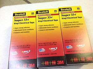 Scotch Super 33 Vinyl Electrical Tape 3 4 X 66 Ft 30 Rolls