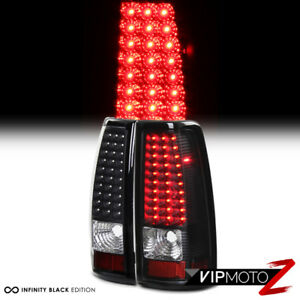 03 06 Chevy Silverado V8 Ss Truck Black Led Tail Lamps Brake Signal Lights Lh rh