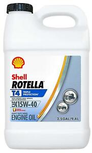 Shell Rotella Triple Protection 15w 40 Diesel Oil Heavy Duty Engine Oil 2 5 Gal