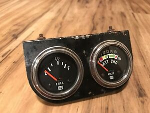 Vintage Stewart Warner Gauges Panel Gauge Boat Fuel Volts Hot Rod Sw Scta