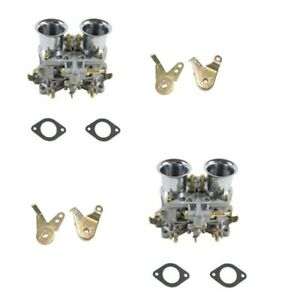 New 2 Set 48 Idf Carburetor Carb For Solex Dellorto Weber Empi 48mm W Air Horns