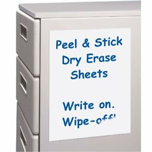 C line Peel And Stick Dry Erase Sheets 11 X 8 5 Inches 25 Per Box 57911
