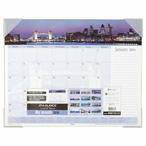 At a glance Monthly Desk Pad Calendar 2016 Panoramic Harbour Views 21 5 8 X