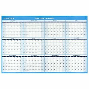 At a glance Wall Calendar 2016 Erasable 12 Months Reversible For Planning 48