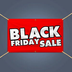 Black Friday Sale Banner Retail Store Business Advertising Heavy Duty Vinyl Sign