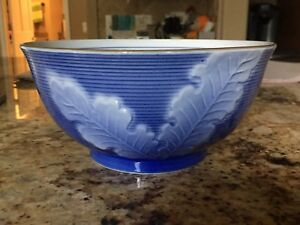 Asian Blue And White Porcelain Bowl With Turnips