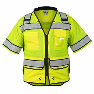Ml Kishigo Class 3 Reflective High Performance Safety Vest Yellow lime