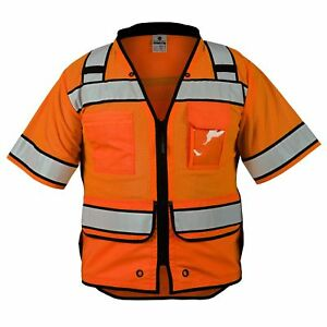 Ml Kishigo Class 3 Reflective High Performance Safety Vest Orange