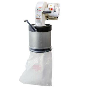 Shop Fox W1844 120 240 volt 1 Hp Canister Filtered Wall mount Dust Collector