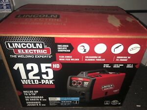 New Lincoln Electric Weld pak 125 Hd Flux cored Welder Sealed