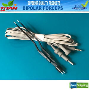 Bipolar Gerald Bayonet Forceps Non Stick Surgical Forcep 1mm Tip
