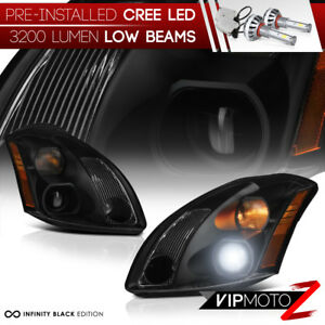 cree Led Low Beam Bulbs For 04 06 Nissan Maxima Black Replacement Headlight