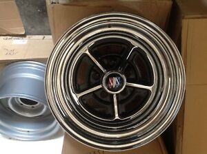 Buick Chrome Rally Set Of Four 15x7 With Caps And Lugs 4 75 Bolt Pattern