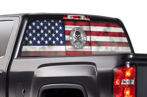 Gmc Sierra Chevy Silverado Window Wrap Vision Graphics Sticker Decal 14 17 Amend