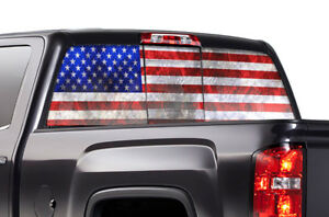 Gmc Sierra Chevy Silverado Window Wrap Vision Graphics Sticker Decal 14 17 Usa