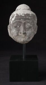 19th Century Antique Marble Buddha Head Originating From Burma