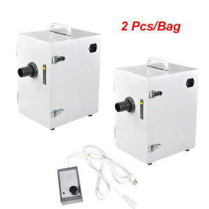 2x Dental Dust Collector Single row Vacuum Cleaner Equipment 370w For Lab Jt 26