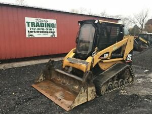 2006 Caterpillar 247b Tracked Skid Steer Loader W Cab And 4in1 Bucket