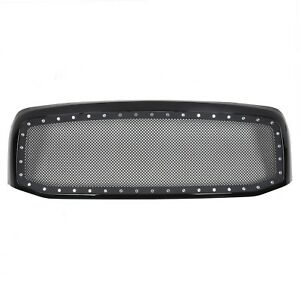 06 08 09 Dodge Ram 1500 2500 3500 Black Rivet Style Wire Mesh Grill Grille Shell