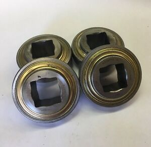 Lot Of 4 Sst W208ppx 1 3 16 Square Shaft Conveyor Bearing 80mm Od