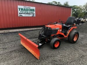 2003 Kubota B7400 4x4 Hydro Compact Tractor W Front Snow Blade