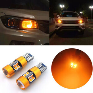 2x T10 168 194 2825 W5w 19led Amber Car Parking Backup Position Light Bulb New