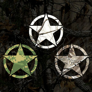 Camouflage Military Star Sticker Army Star Decal