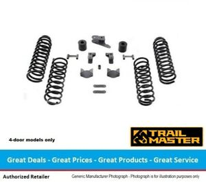 Trail Master Jeep Jk Wrangler 3 Inch Coil Spring Lift Kit With Shock Extensions