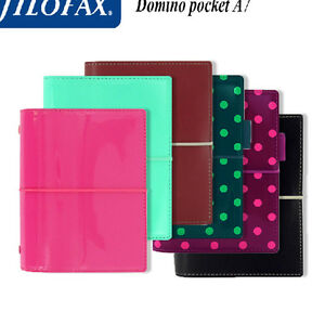 Business Filofax Personal Domino Organiser Diary Book Notebook Dark Red Leather