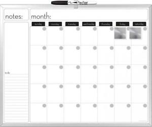 The Board Dudes 16x20 inches Aluminum Framed Magnetic Dry erase Calendar