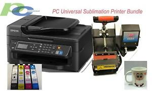 Pc Universal Sublimation Bundle With Printer Heat Press Machine