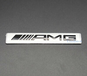 Aluminum Car Auto Parts Decals Emblem Sticker Badge Amg Logo For Mercedes Benz