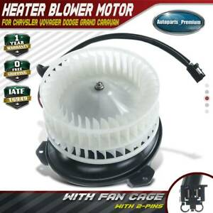 Hvac Blower Motor W Fan Cage For 01 07 Chrysler Town Country Dodge Pacifica
