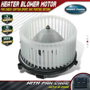 Hvac A c Blower Heater Motor W Fan Cage For Chevrolet Gmc Pontiac Saturn 700211