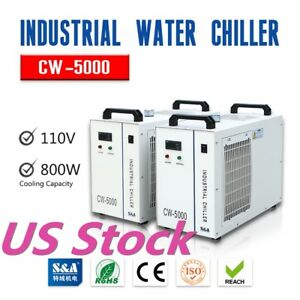 Cw 5000 Water Chiller For 5kw Spindle Wood Carving Machine 110v S