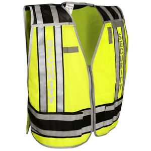 Ml Kishigo Reflective Security Pro Series Safety Vest Yellow lime