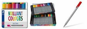 Staedtler Triplus Fineliner Pens Metal Tin Containing 50 Assorted Colors