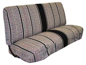 Saddle Blanket Truck Bench Seat Cover For Chevrolet Dodge Ford Black