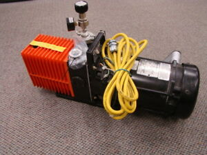 Alcatel 2012a Dual Stage Rotary Vacuum Pump W franklin Electric 1111007411 Motor