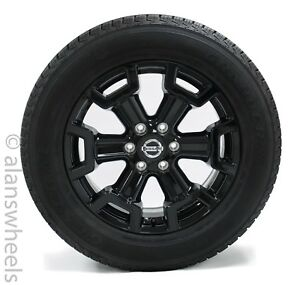 4 New Nissan Titan Xd 20 Black Wheels Rims 10 Ply Load E Tires 62727