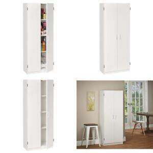 System Build Flynn Wooden Storage Cabinet White