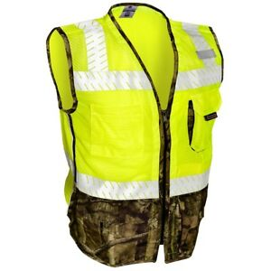 Ml Kishigo Class 2 Reflective Safety Vest With Camo Yellow lime